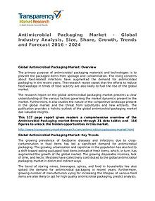 Antimicrobial Packaging Market – Analysis and Forecasts To 2024