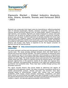 Pigments Market – Analysis and Forecasts from 2015 to 2023