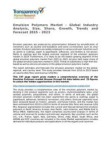 Emulsion Polymers Global Analysis & Forecast to 2023