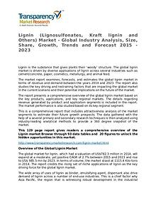 Lignin Global Analysis & Forecast to 2023 Market Research Report