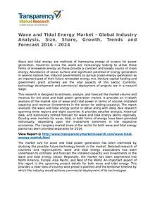 Wave and Tidal Energy Market Research Report and Forecast up to 2024