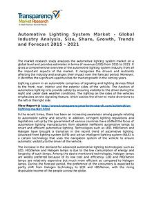 Automotive Lighting System Market Research Report and Forecast