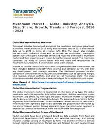 Mushroom Market Research Report and Forecast up to 2024
