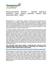 Polyacrylamide Market Research Report and Forecast up to 2023