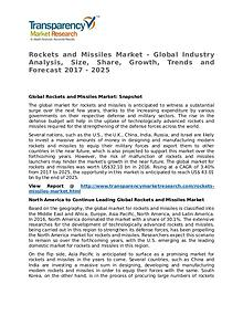 Rockets and Missiles Market Research Report and Forecast up to 2025