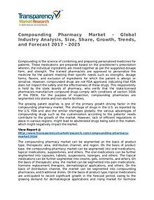 Compounding Pharmacy Market Research Report and Forecast up to 2025