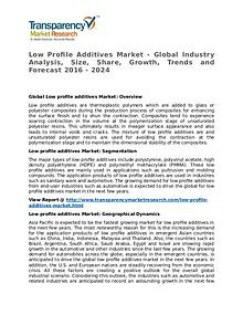 Low Profile Additives Market 2016 Share, Trend and Foreacast