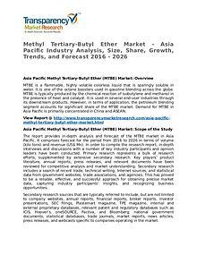Methyl Tertiary-Butyl Ether Market 2016
