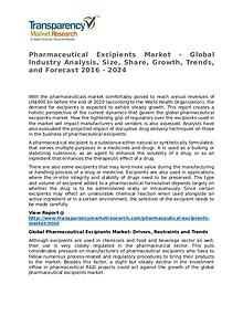 Pharmaceutical Excipients Market 2016 Share, Trend and Forecast