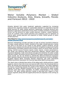 Water Soluble Polymers Market 2013 Share, Trend and Forcast