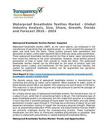 Waterproof Breathable Textiles Market 2016