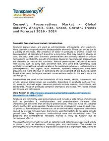 Cosmetic Preservatives Market 2016 Share, Trend and Forcast