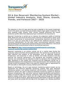 Oil & Gas Reservoir Monitoring System Market 2017