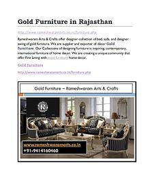 Gold furniture Manufacturer
