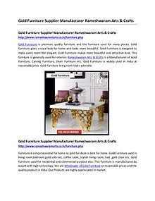 Gold Furniture Supplier Manufacturer