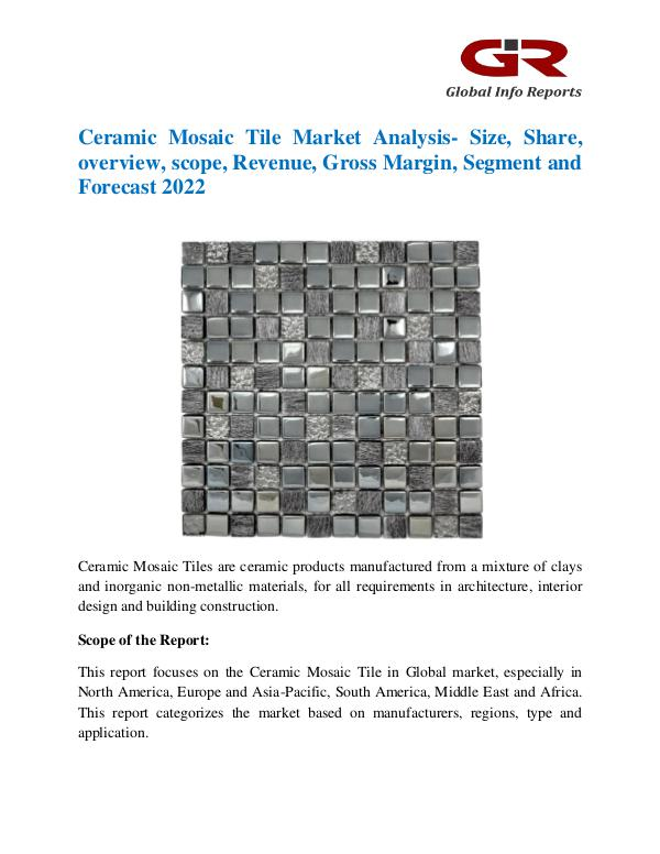 Global Info Research- market Research Reports Global Ceramic Mosaic Tile Market