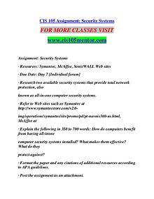CIS 105 MENTOR Learn Do Live /cis105mentor.com