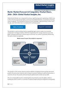Global Barite Market Regional outlook, Industry Segments, Key factors