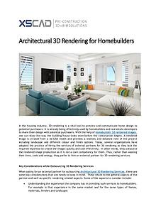 Architectural 3D Rendering for Homebuilders