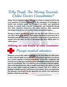 Why People are Moving Towards Online Doctor Consultation
