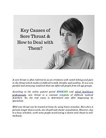Key Causes of Sore Throat and How to Deal with Them?