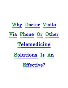 Telemedicine Solutions Changing The Medical World