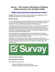 Survay review-(MEGA) $23,500 bonus of Survay