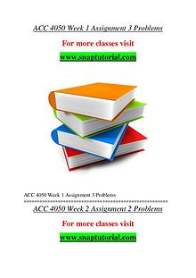 ACC 4050 help A Guide to career/Snaptutorial