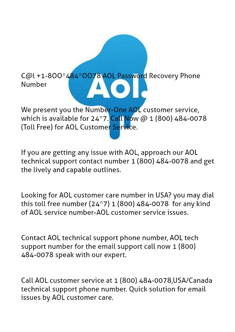 di@l +18OO-484-OO78 AOL password recovery phone number AOL-AIM password recovery @ 18OO-484-OO78