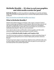 BizMedia Monthly Review & (Secret) $22,300 bonus NOW