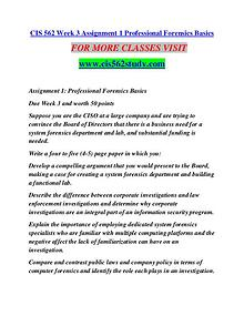 CIS 562 STUDY Learn Do Live /cis562study.com