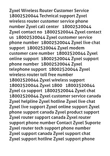 Zyxel Wireless Router Customer Service I8OO252OO44 Technical support