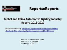 Automotive Lighting Industry 2017 Market Trends 2020