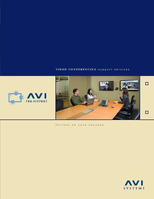 AVI Systems Video Conferencing ProSupport Brochure