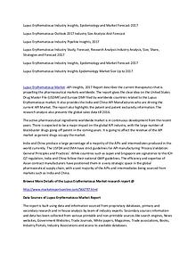 Lupus Erythematosus Industry