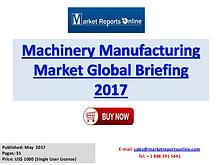 Machinery Manufacturing Manufactures, Industry Analysis 2017