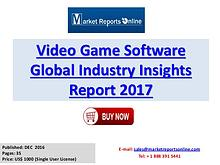 Global Video Game Software Market Overview Report 2017