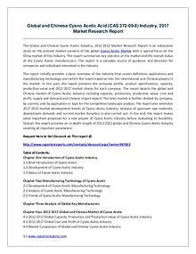Global Cyano Acetic Acid Industry 2021