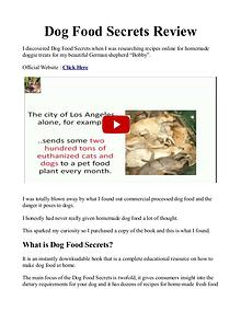 Dog Food Secrets PDF / Book