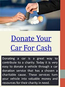 car donation cash back