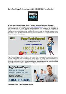 Pogo Technical Support @1-855-213-4314Toll-Free Number