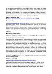 Microscopic Polyangiitis (MPA) Pipeline Research H1 2017