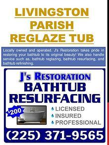 Baton Rouge tub resurfacing