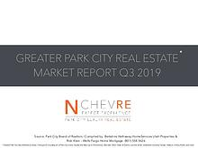 MARKET STATS Q3 2019 GREATER PARK CITY AREA