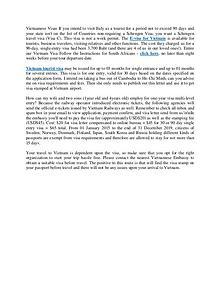 Vietnam Evisa - Vietnam Visa tips & tricks