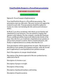 Final Portfolio Project is a PowerPoint presentation/TUTORIALOUTLET