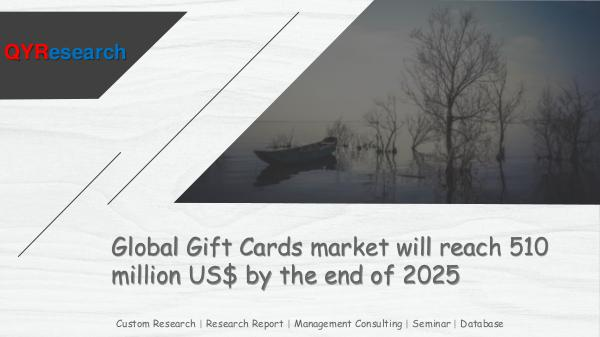 QYR Market Research Global Gift Cards market research