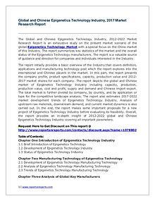 Global Epigenetics Technology Industry Analyzed in New Market Report