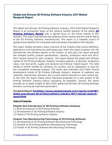 Global 3D Printing Software Industry Forecast Study 2012-2022
