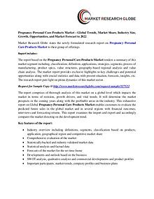 Pregnancy Personal Care Products Market - Global Trends, Market Share